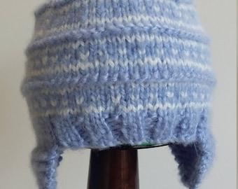 6-12 Months Blue Fair Isle Baby Hat