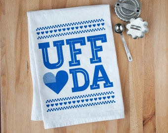 UFF DA - Screenprinted Dish Towel