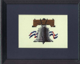 The Liberty Bell  in counted cross stitch KIT