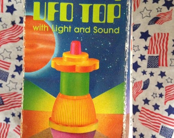 Vintage UFO Spinning Top