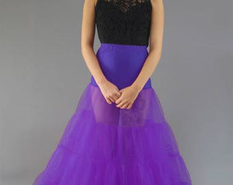 Floor Length Petticoat 4 Layers - Choose from 28 Colours, Length + Waist Options