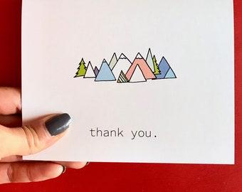 Mountains Thank You Card Set