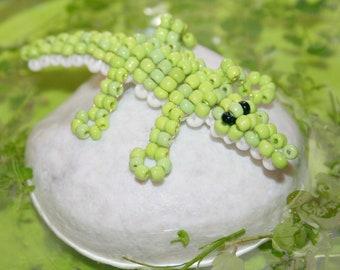 Animal beads: seed beads crocodile