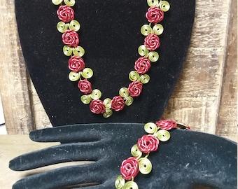 Rose Necklace Set