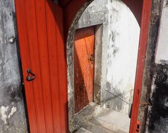 Red Door, Sintra, Portugal, vertical.