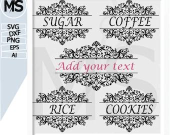 70 % OFF Sale Svg Kitchen, Kitchen Conversion SVG, SVG Cut File, Diy Labels, Decals, Canister, Coffee Sugar Flour Treats, Labels, Cricut
