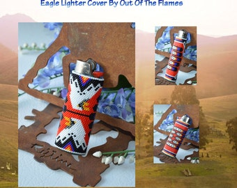 Bead PATTERN Wind Dancer Eagle Lighter Cover -Peyote Stitch