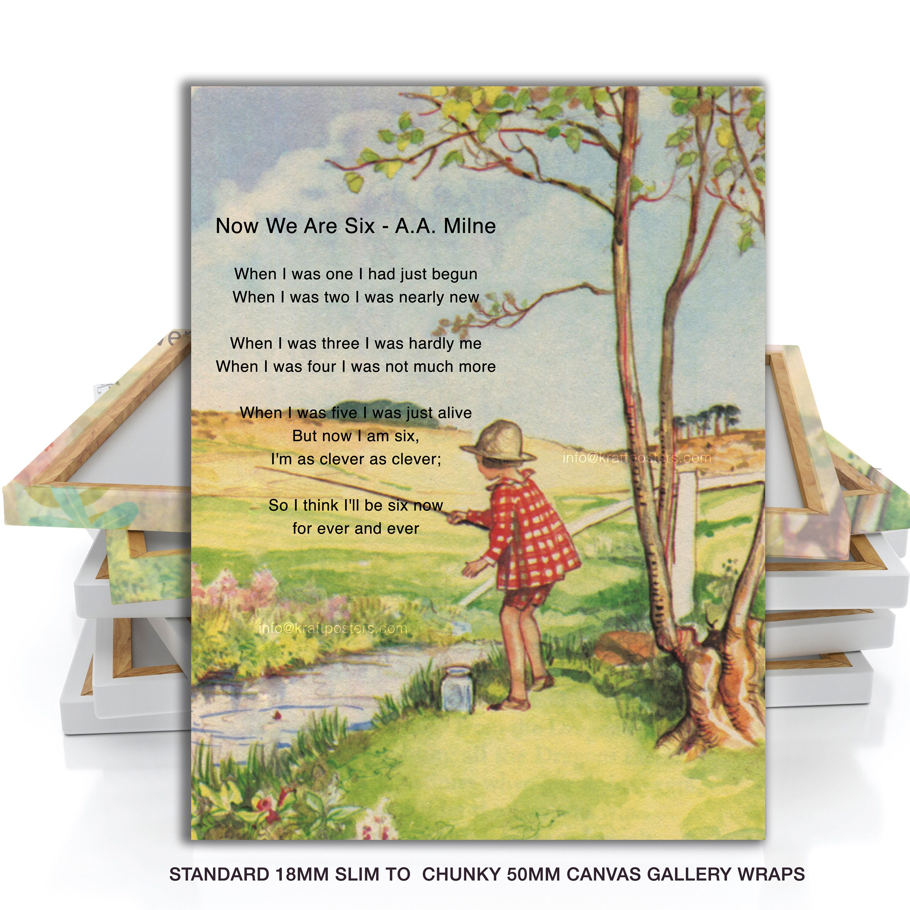 Now We Are Six Gallery Canvas Wrap Winnie The Pooh Quote