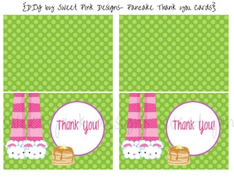Pajama and Pancakes Thank You Cards