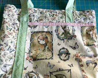 Santoro London Mirabelle & Butterflies Tote Bag, handmade