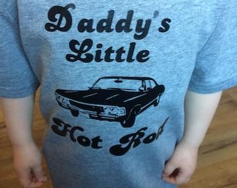 Daddys hot rod childrens shirt