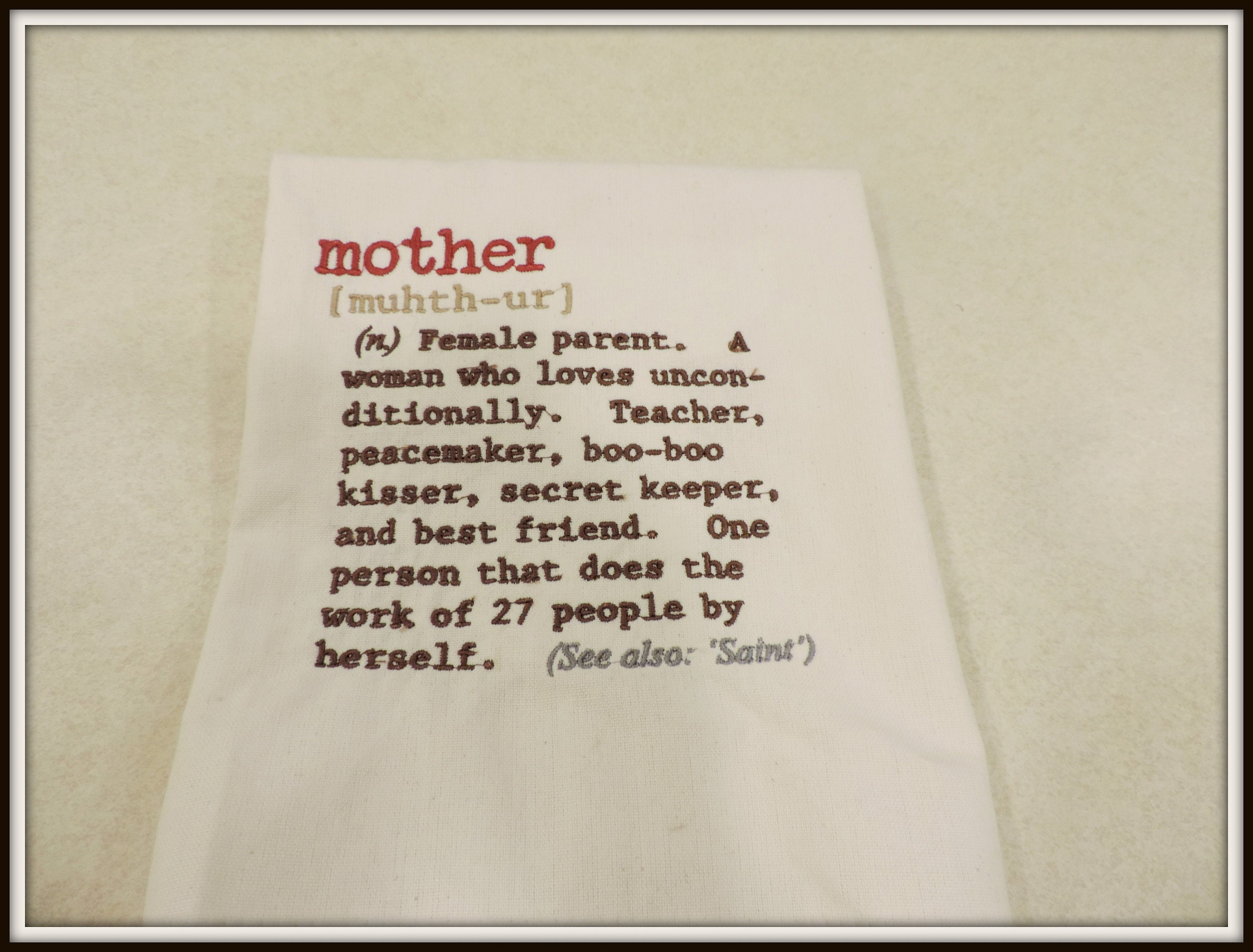 Mother definition towel, mom definition towel, gift for mom, mom\'s ...