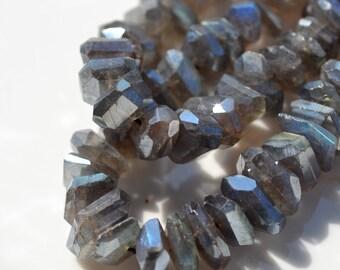 Mystic Labradorite Nugget Beads   8