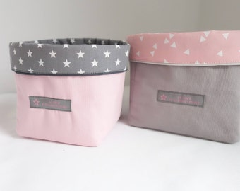 Pink graphic Collection set of 2 baskets