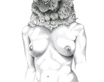 Bear Goddess Illustration Limited Edition Print