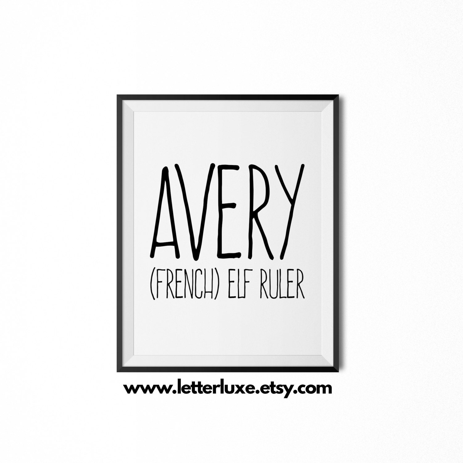 Avery name meaning art printable baby shower gift nursery zoom negle Choice Image