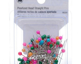 """1 1/4"""" Singer Pearlized Head Straight Pins - 00358"""