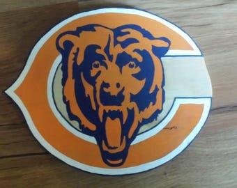 Chicago Bears, Bears Sign, Chicago bears Sign, Wooden Bears Sign