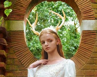 Deer antlers headress made to order
