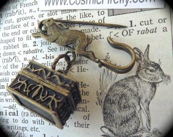 Steampunk Pin Brass Rabbit Pin Rabbit Brooch Steampunk Brooch Bunny Rabbit Locket Easter Pin Easter Brooch Bunny Pin Easter Basket Locket