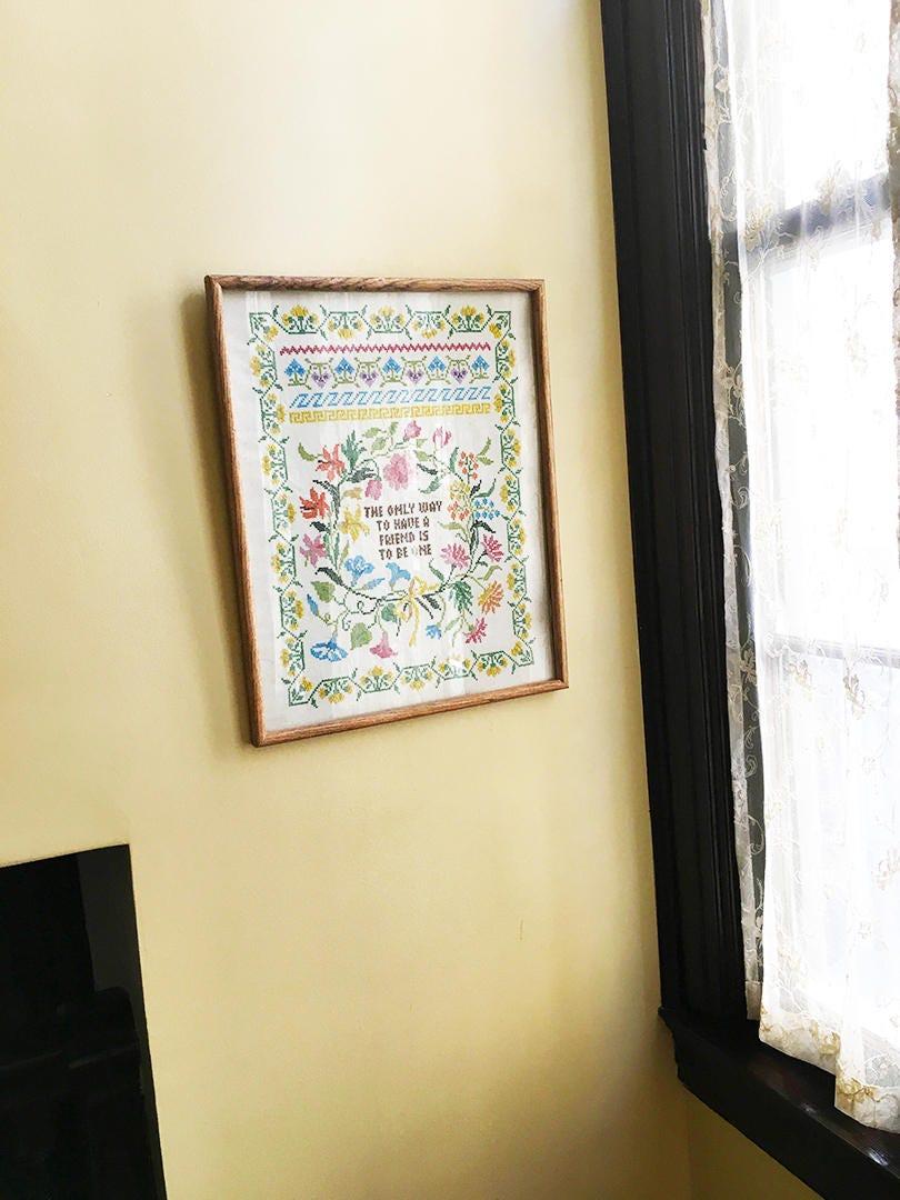 Vintage Wall Art Vintage Cross Stitch Vintage Needlepoint