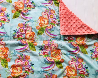 Weighted Blanket- Adult Size (40x60 inches) Petal and Plume Peacock