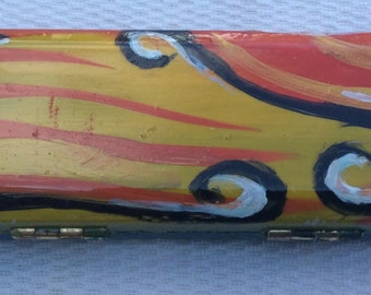hand painted oboe reed case for a special gift for a double reed musician