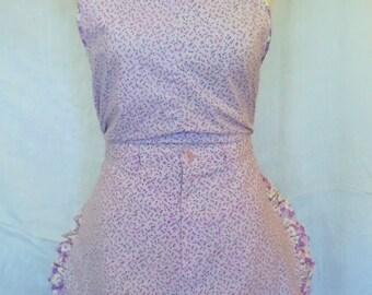 Lavender ladies apron