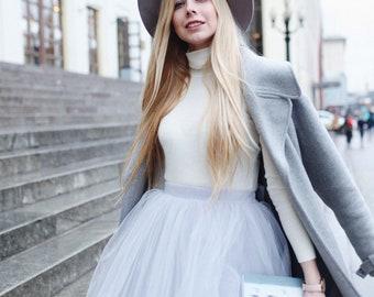 Grey Tulle Skirt. #BowsAndTulle_Odile