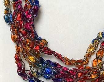 New! Pizazz - Hand Crocheted Necklace