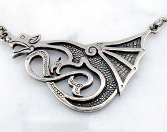 "Silver necklace ""Lucky Dragon"""