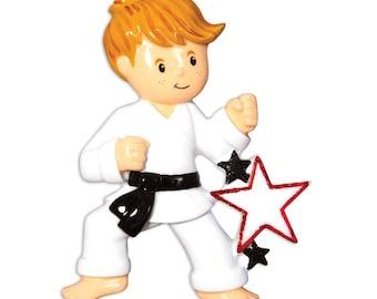Karate Ornament  Boy Karate  Martial Arts  Jujitsu  Personalized Christmas Ornament