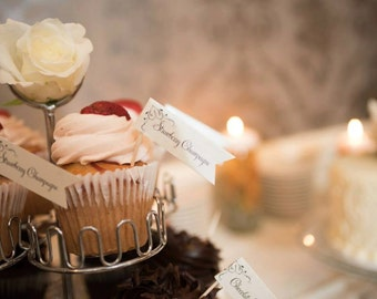 Cupcake Flags | Custom flavor flags | Wedding Paper | Party Decor