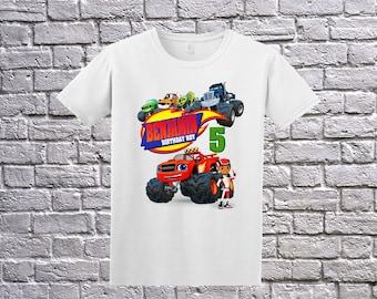 Custom Blaze Birthday Shirt, Blaze Birthday T-Shirt, Blaze Name Age, Custom Blaze Shirt, Personalized Blaze Apparel, Blaze Birthday Party