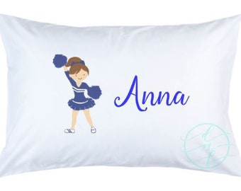 Personalized Custom Girl Cheer Cheerleader Pillowcase