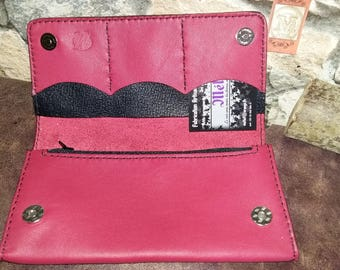 Leather briefcase red