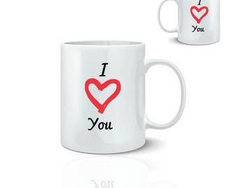 Mug i love you - love you - mug 325 ml ceramic