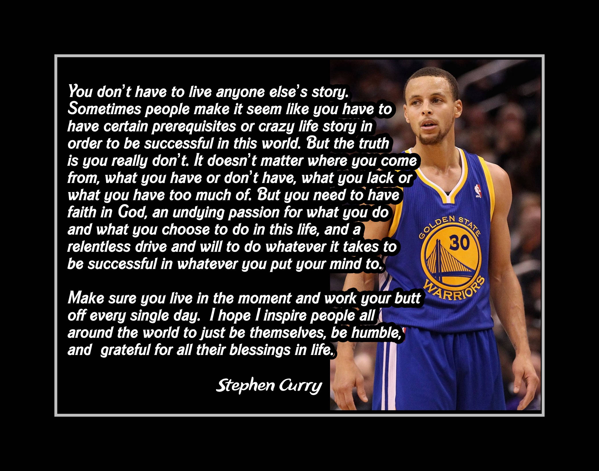 Basketball Inspirational Quotes Stephen Curry Basketball Inspiration Quote Art Son