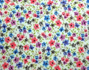 Michael Miller FORGET ME NOT (Cloud) 100% Premium Cotton Quilt Fabric - per 1/2 yd