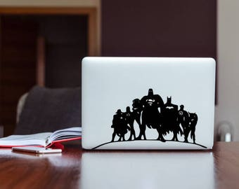 Justice league sticker. MacBook Air 11,MacBook  Pro 13,MacBook Pro 15,MacBook Pro 17,iPad,iPhone,other PC or laptop