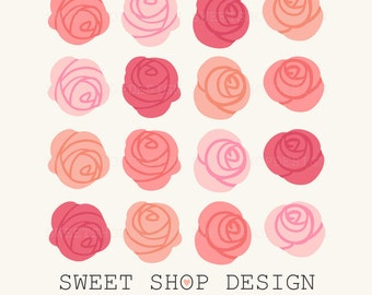 Rose Clip Art, Flower Clip Art, Royalty Free Clip Art, N02, Instant Download