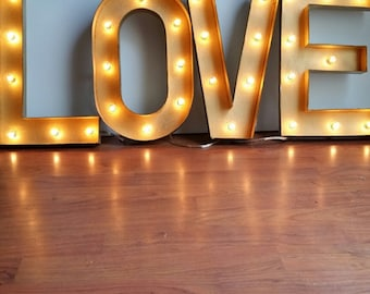 Open Sign Cursive Letters Marquee