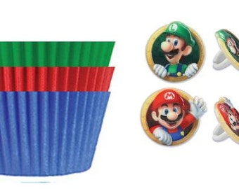 Super Mario Brothers Rings with Assorted Color Baking Cups