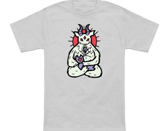 Spirit Animal Goat Ringspun cotton T-shirt, multiple color options available