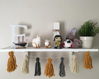 Yarn Tassel, Bunting, Banner, Home Decor