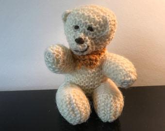 Very sweet crochet teddy bear with scarve