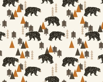 baby leggings bear rust, woodland infant pants, organic toddler pants bears, woodland baby pants, bear baby pants orange