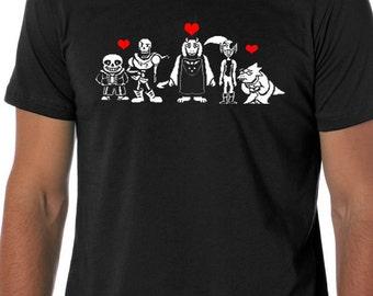 Undertale shirt toriel, papyrus, sans, undyne, alphys