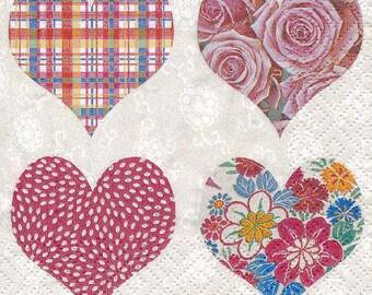 paper heart (300) 2 napkins