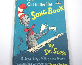 The Cat in the Hat Song Book Children's Book Vintage 1960s Children's Song Book by Dr. Seuss